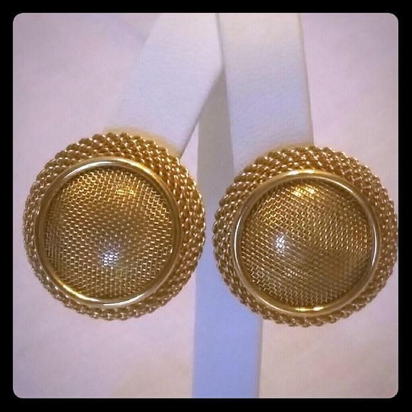 8e0c137dcb75fd Monet Jewelry | Vintage Gold Tone Signed Earrings | Poshmark